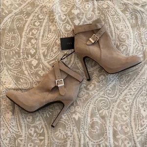 Forever 21 Light Gray Ankle Booties with Heel